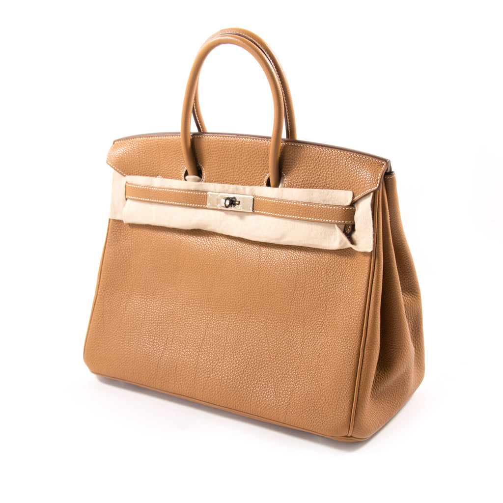 Hermès Birkin 35 Gold Togo Leather Bags Hermès - Shop authentic new pre-owned designer brands online at Re-Vogue
