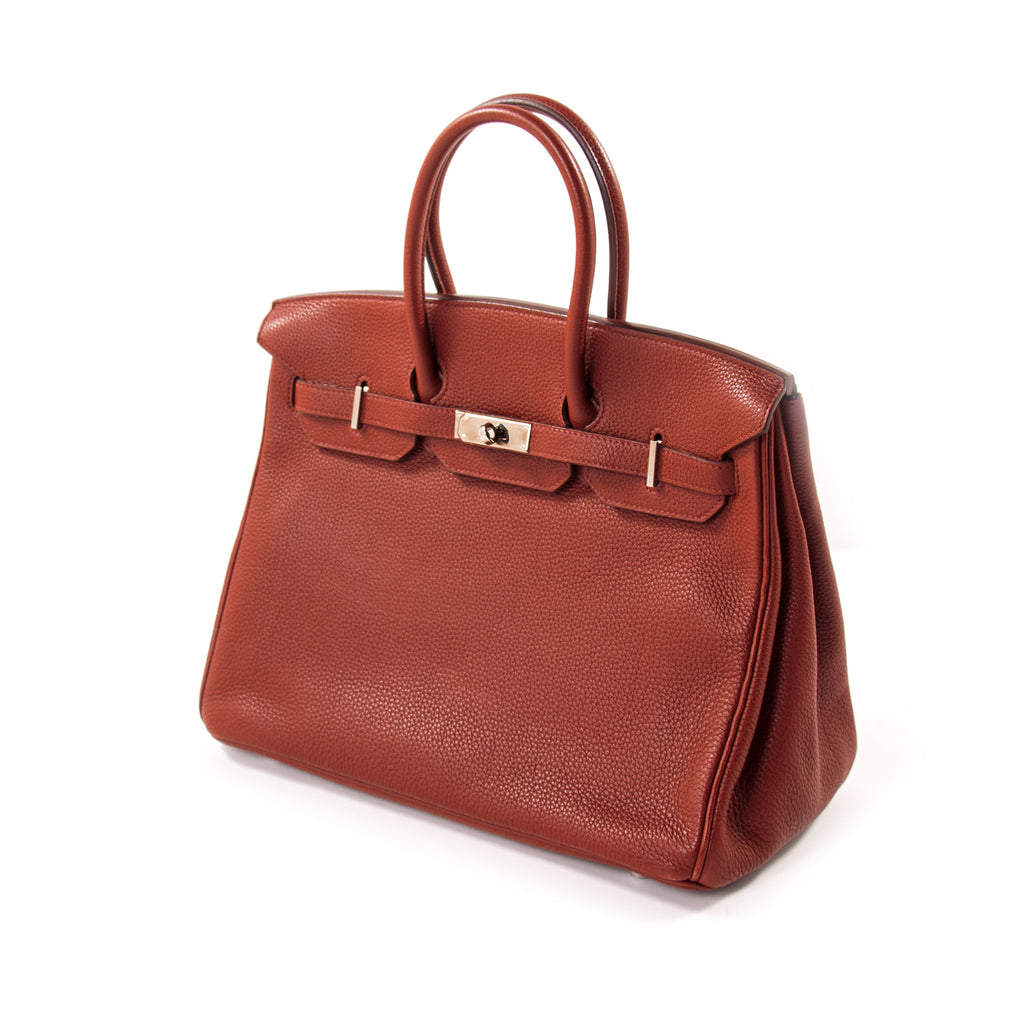 Hermès Birkin 35 Ruby Red Togo Leather Bags Hermès - Shop authentic new pre-owned designer brands online at Re-Vogue