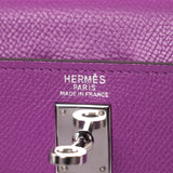 Hermès Kelly 25 Retourne Violet Courchevel
