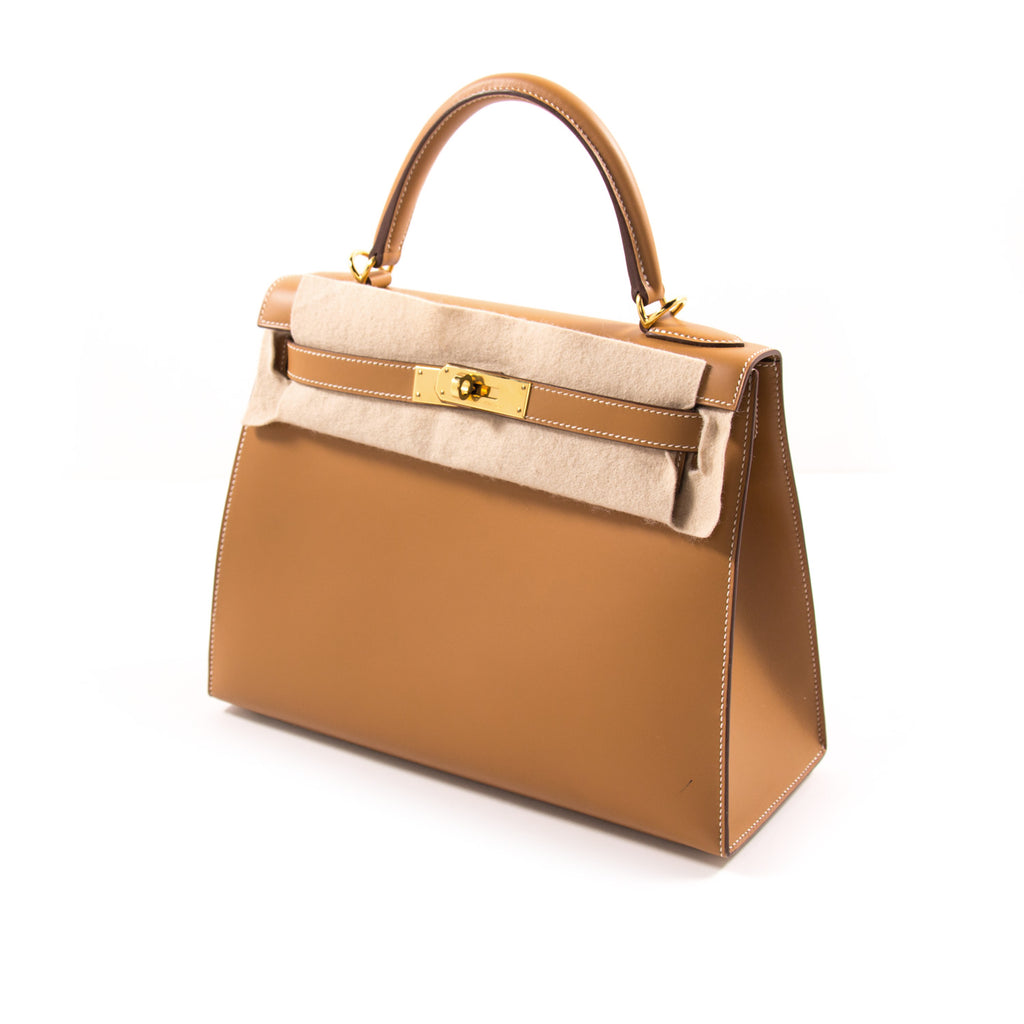 Hermès Kelly 28 Sellier Gold Chamonix Calf