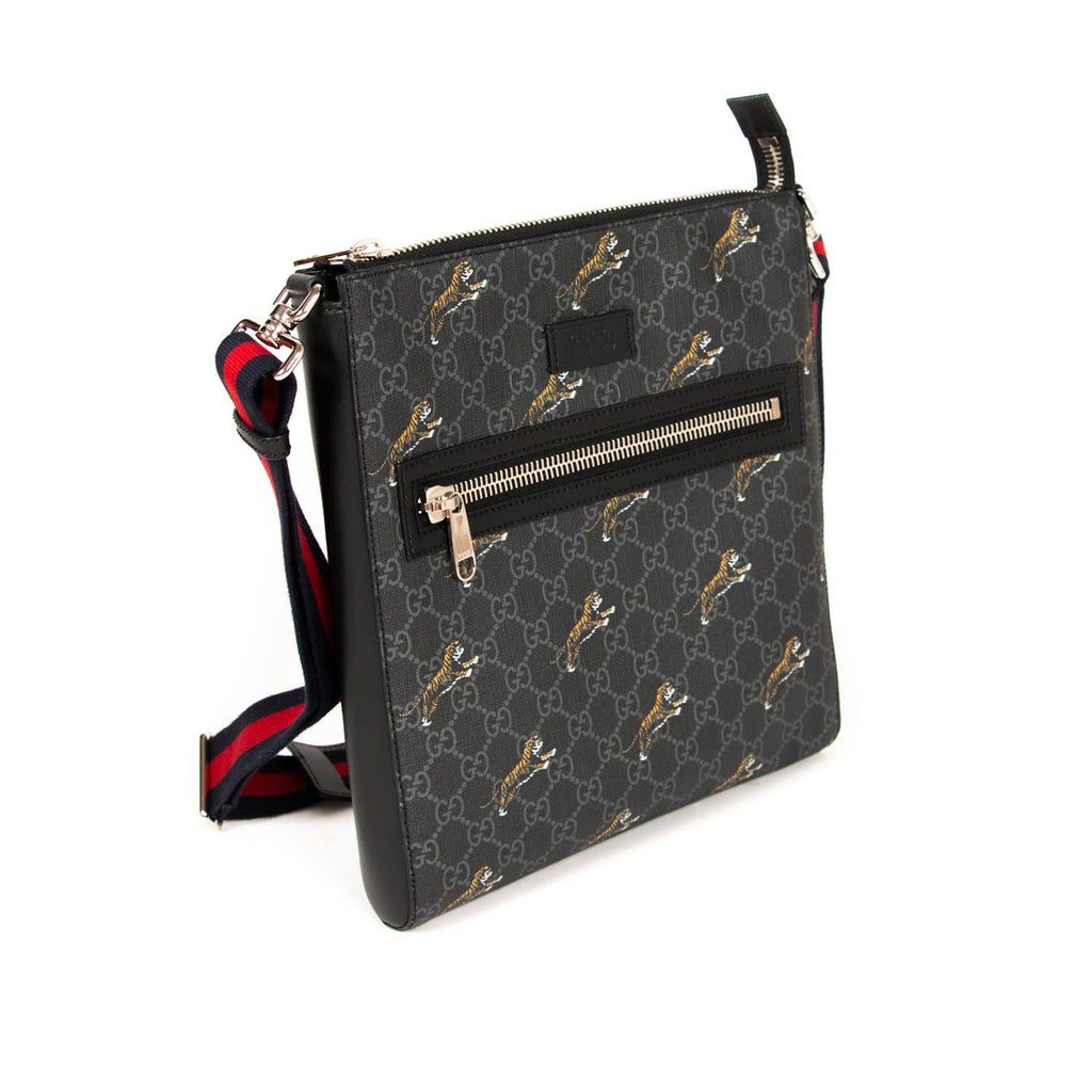 Gucci Bestiary Messenger with Tigers