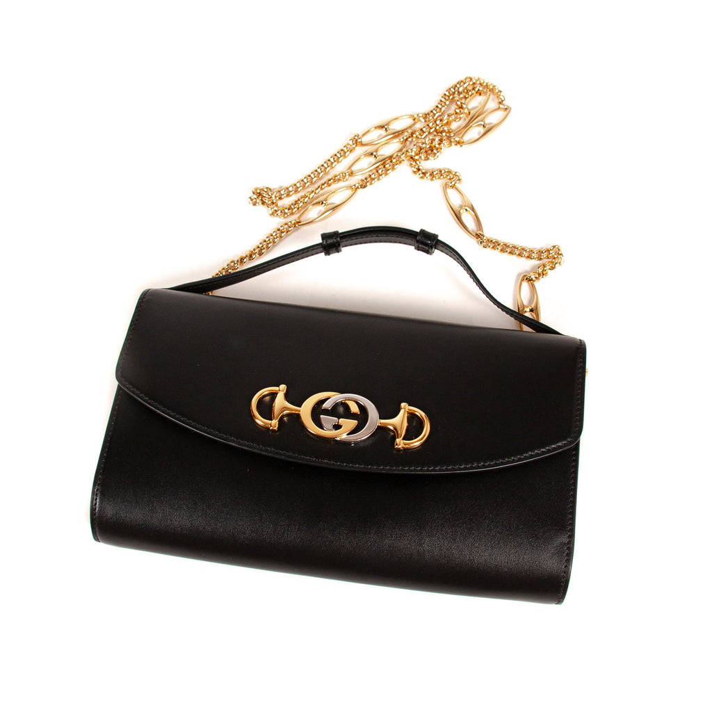 Gucci Zumi Smooth Leather Shoulder Bag
