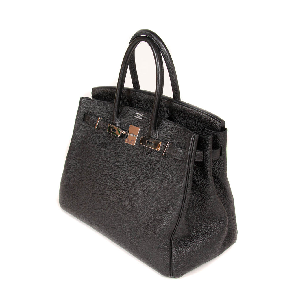 Hermès Birkin 35 Black Togo Leather