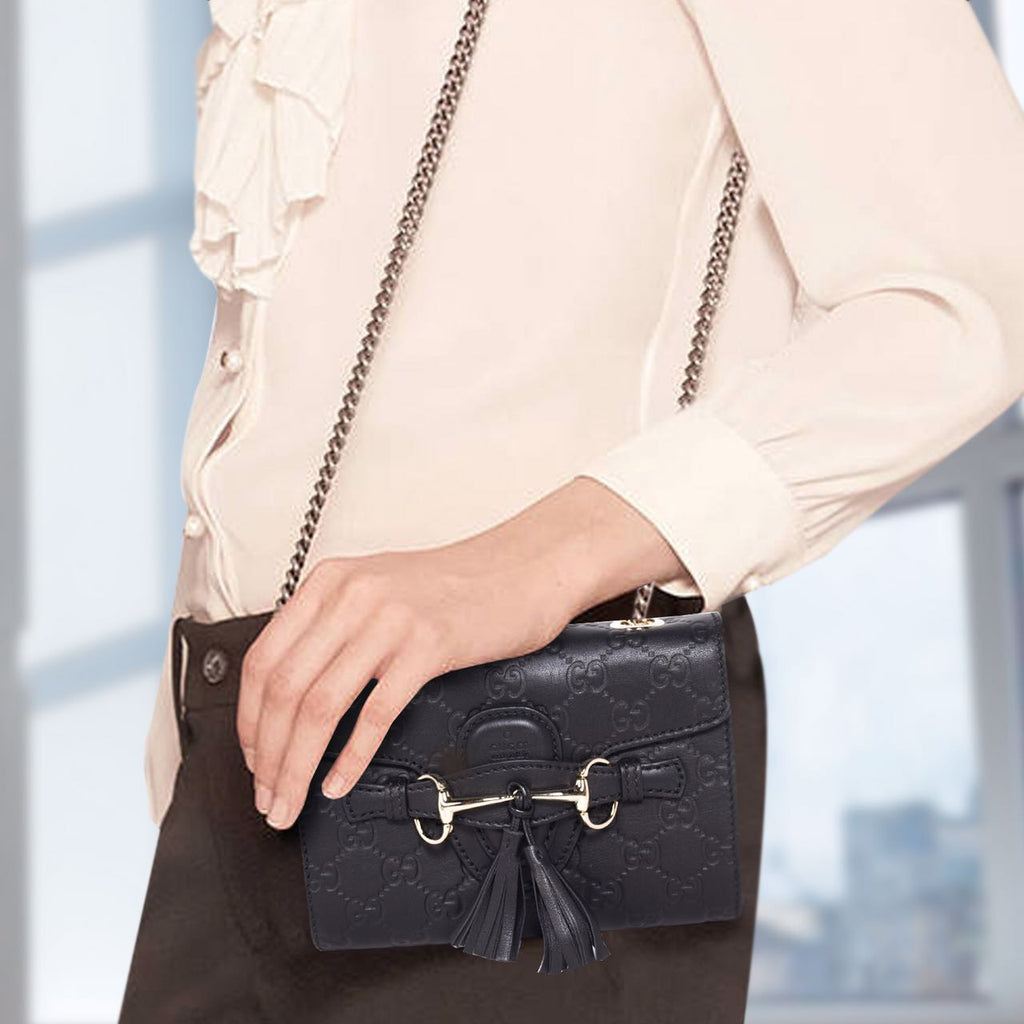 Gucci Emily Guccissima Small Bags Gucci - Shop authentic new pre-owned designer brands online at Re-Vogue