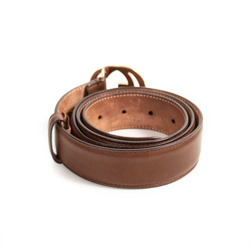Gucci GG Interlocking Leather Belt Accessories Gucci - Shop authentic new pre-owned designer brands online at Re-Vogue