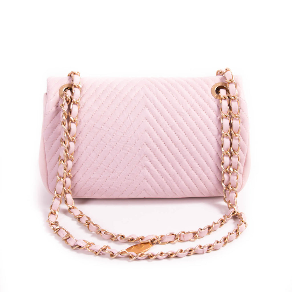 Chanel Small Classic Chevron Flap Bag
