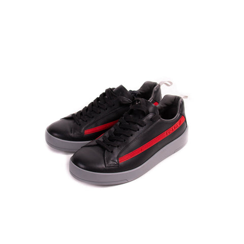Prada Low-Top Leather Suede Sneakers