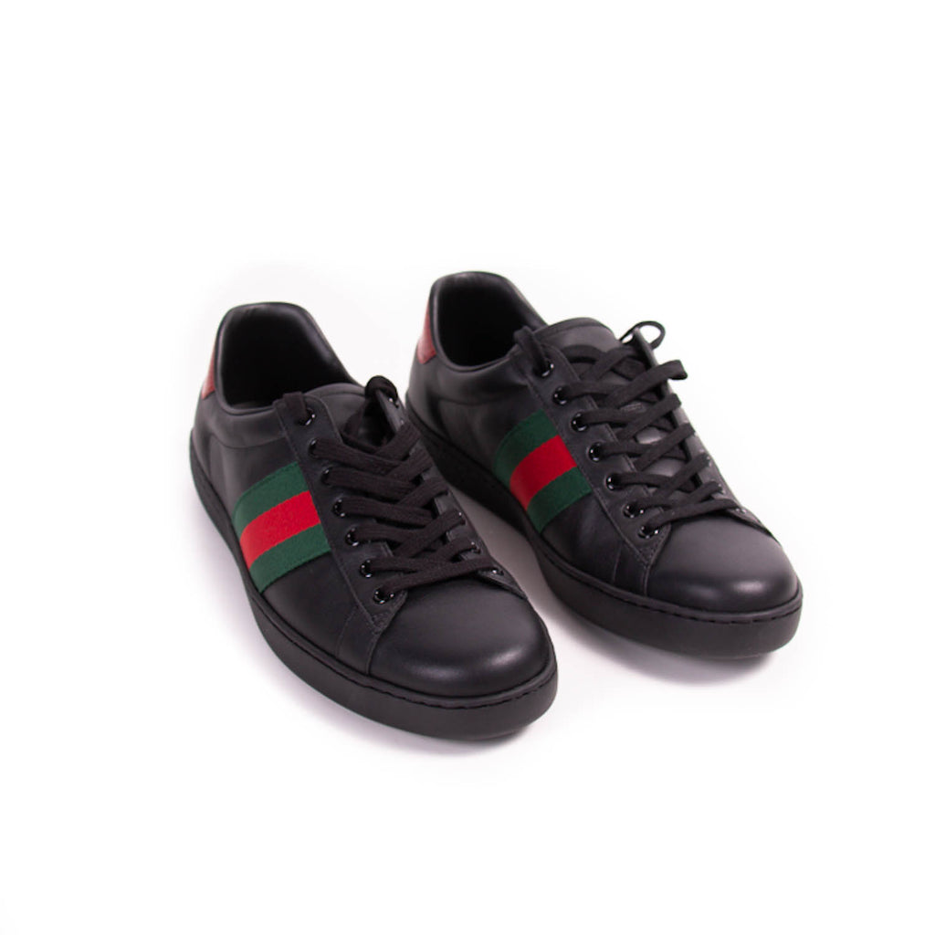 Gucci Ace Leather Sneakers Shoes Gucci - Shop authentic new pre-owned designer brands online at Re-Vogue