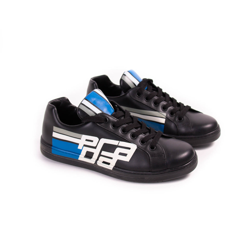 Prada Leather Low-Top Print Sneakers Shoes Prada - Shop authentic new pre-owned designer brands online at Re-Vogue