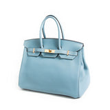 Hermès Birkin 35 Ciel Clemence Bags Hermès - Shop authentic new pre-owned designer brands online at Re-Vogue
