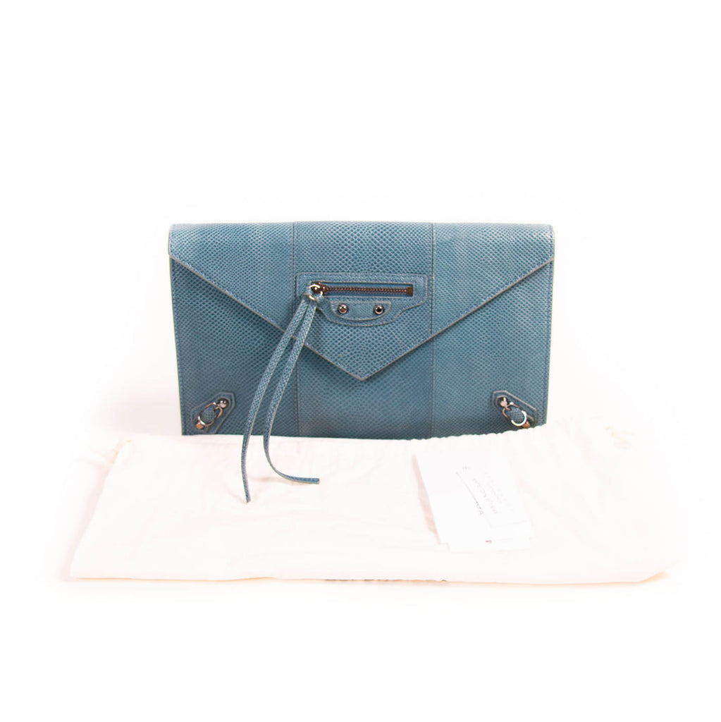 Balenciaga Snake Skin Envelope Clutch Bags Balenciaga - Shop authentic new pre-owned designer brands online at Re-Vogue