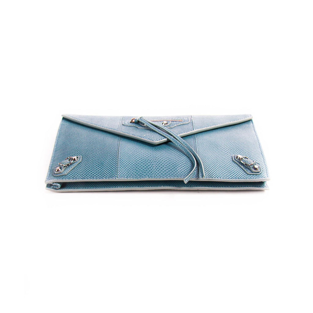 Balenciaga Snake Skin Envelope Clutch Bags ba - Shop authentic new pre-owned designer brands online at Re-Vogue