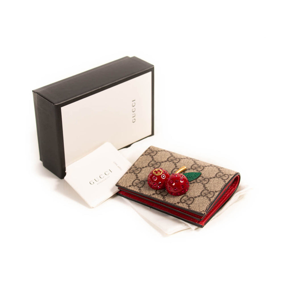 Gucci Cherry Card Case Accessories Gucci - Shop authentic new pre-owned designer brands online at Re-Vogue
