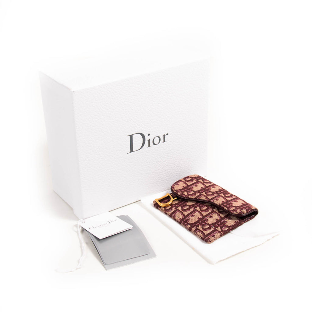 Christian Dior Saddle Compact Card Case Accessories Dior - Shop authentic new pre-owned designer brands online at Re-Vogue