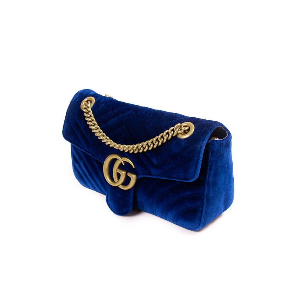 Gucci GG Marmont Small Velvet Metalassé Bag Bags Gucci - Shop authentic new pre-owned designer brands online at Re-Vogue