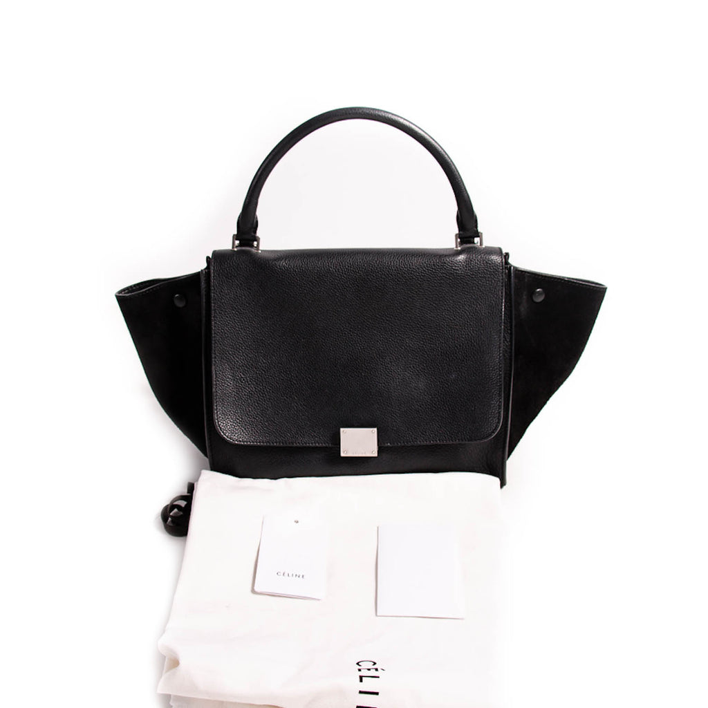 Celine Black Medium Trapeze Bag Bags Celine - Shop authentic new pre-owned designer brands online at Re-Vogue