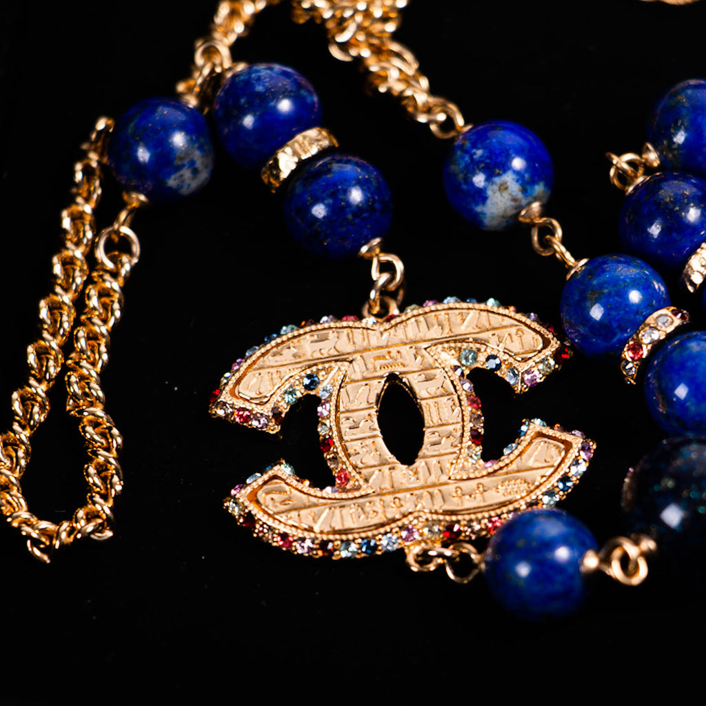 Chanel Pearl Crystal Long Necklace Accessories Chanel - Shop authentic new pre-owned designer brands online at Re-Vogue