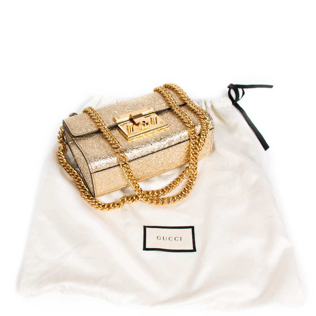 Gucci Metallic Padlock Shoulder Bag Bags Gucci - Shop authentic new pre-owned designer brands online at Re-Vogue