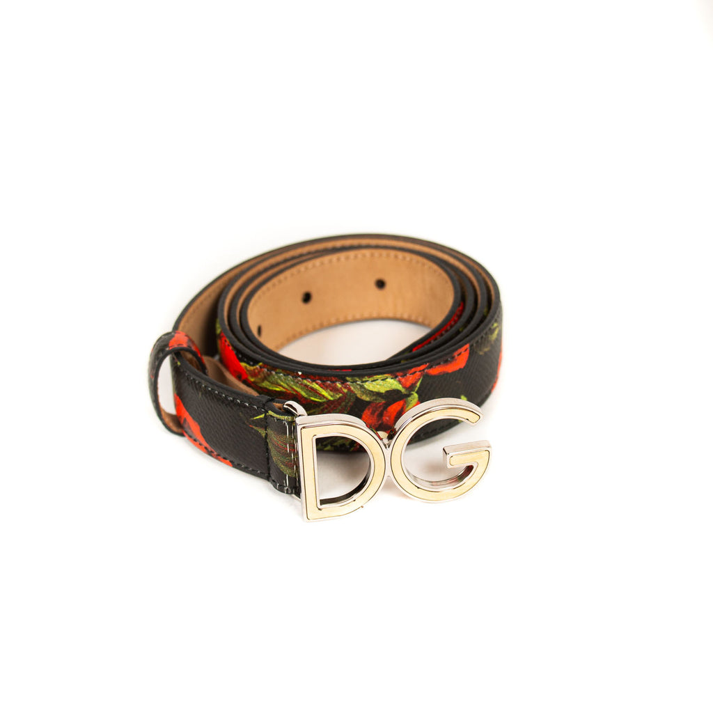 Dolce&Gabbana Floral Logo Belt Accessories Dolce & Gabbana - Shop authentic new pre-owned designer brands online at Re-Vogue