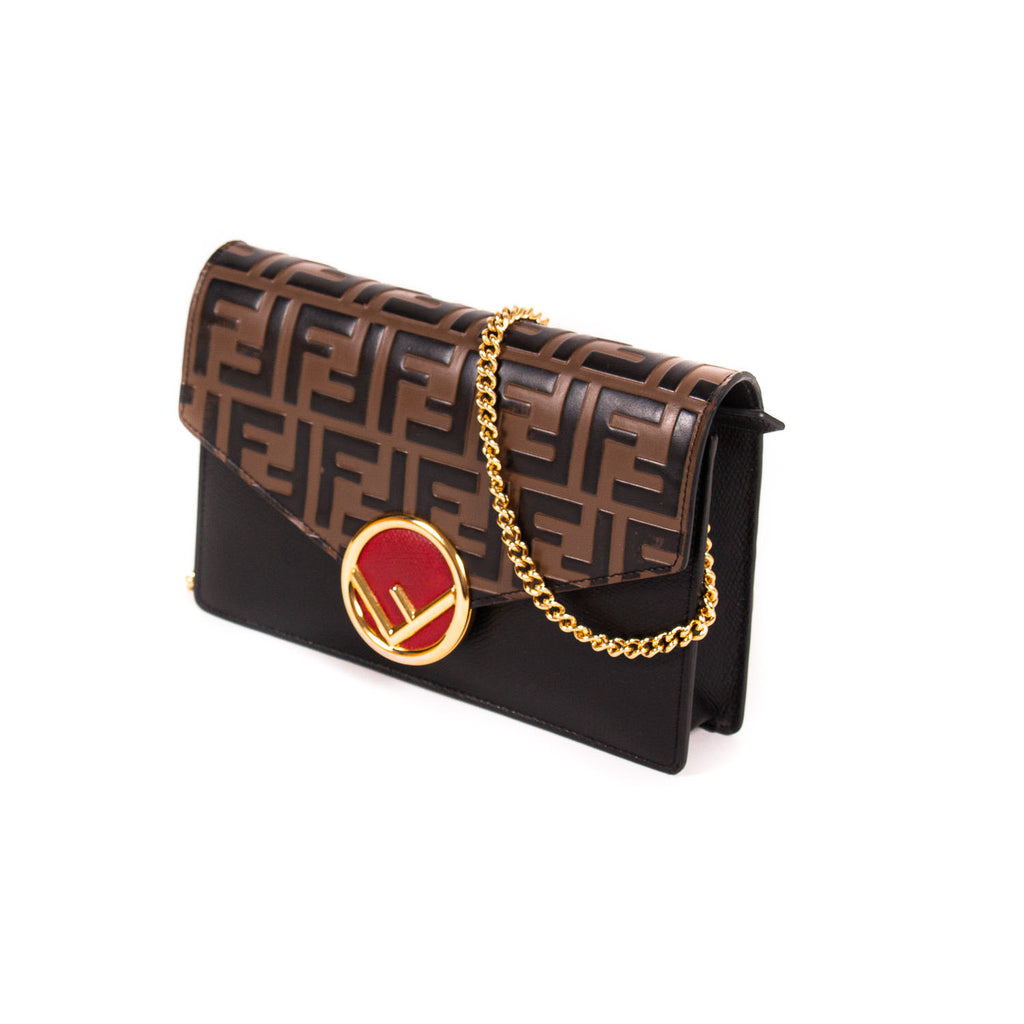 Fendi Double FF Wallet on Chain Bags Fendi - Shop authentic new pre-owned designer brands online at Re-Vogue