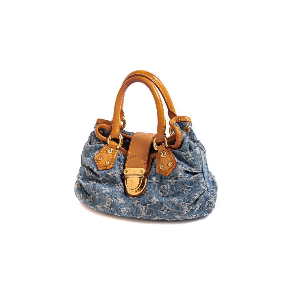 Louis Vuitton Denim Pleaty Bag
