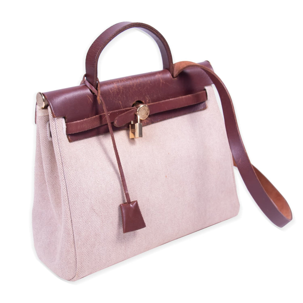 Hermès Herbag PM Brown Toile Canvas Bags Hermès - Shop authentic new pre-owned designer brands online at Re-Vogue