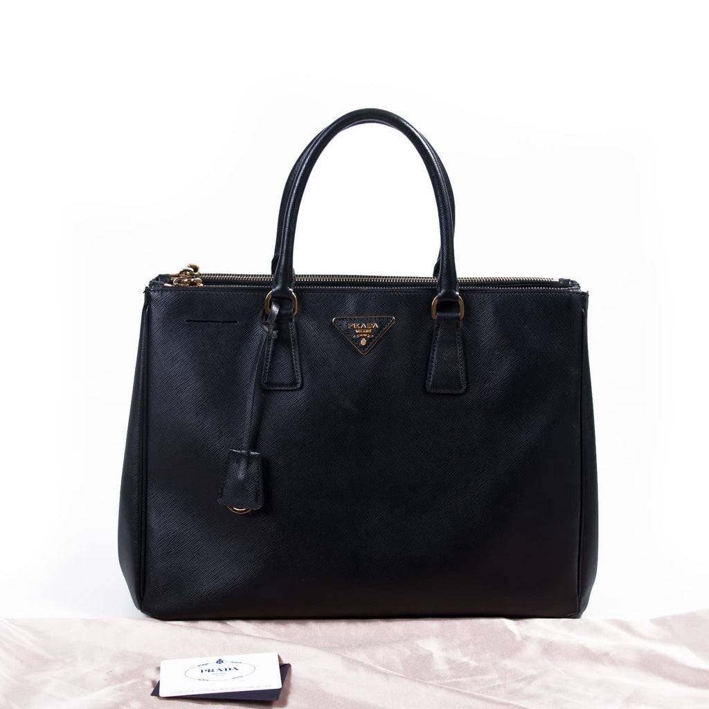 Prada Large Saffiano Lux Double Zip Tote Bag Bags Prada - Shop authentic new pre-owned designer brands online at Re-Vogue