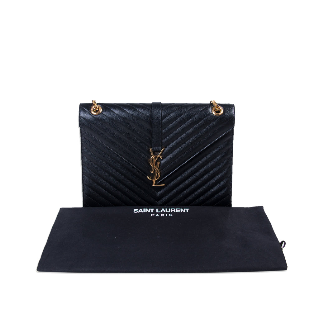 Saint Laurent Monogram Envelope Large Bag