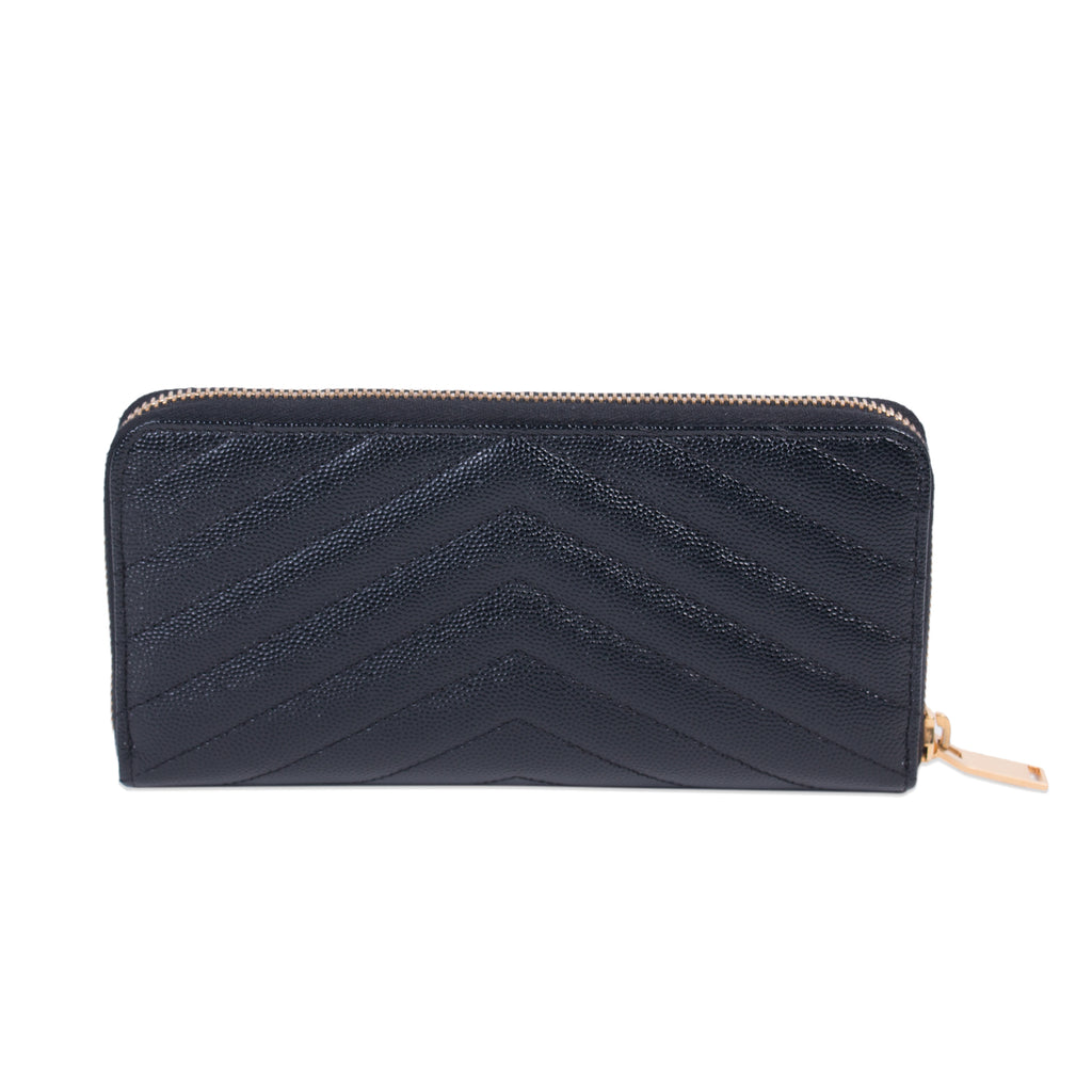 Saint Laurent Monogram Zip Around Wallet Accessories Yves Saint Laurent - Shop authentic new pre-owned designer brands online at Re-Vogue