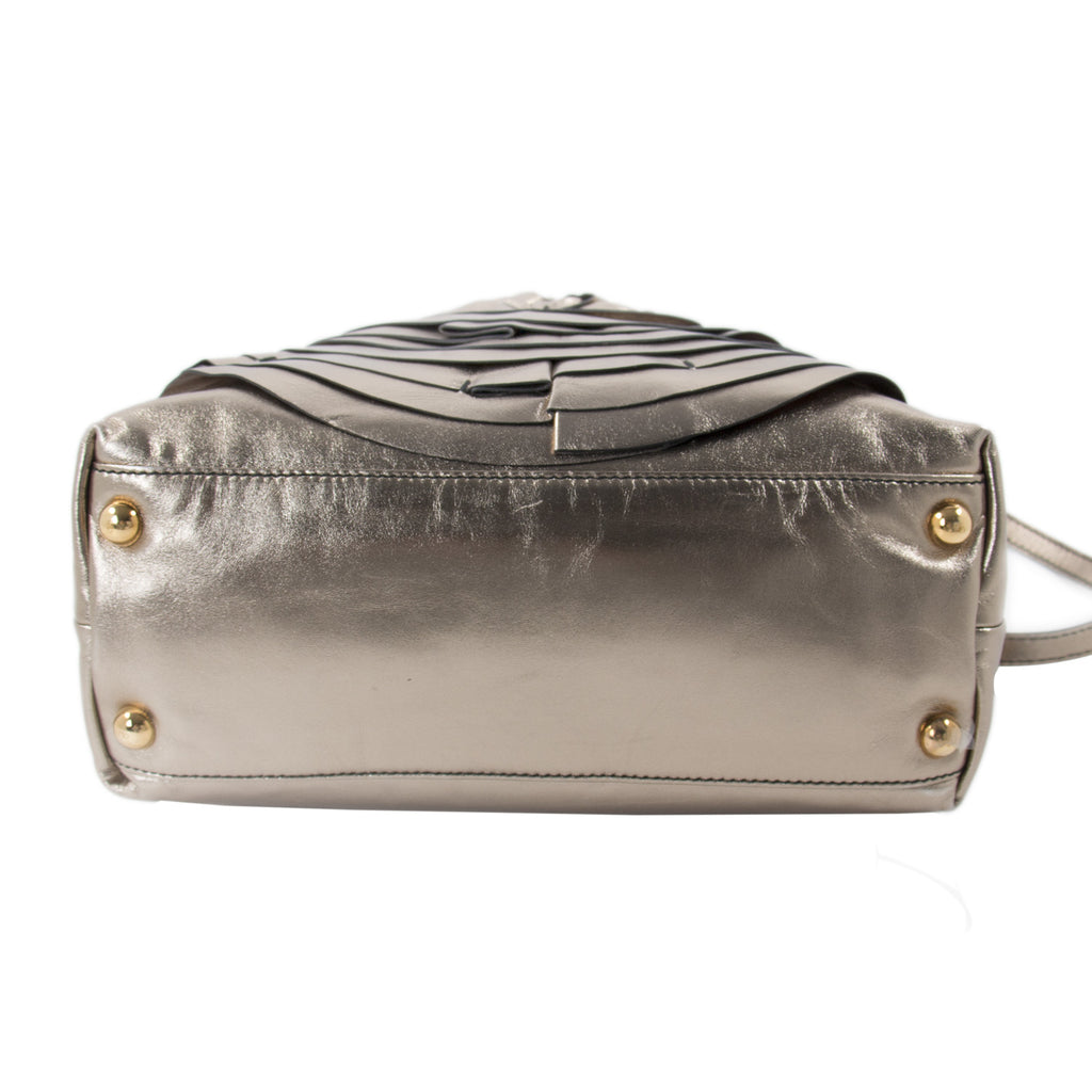 Valentino Metallic Bronze Petale Dome Bag Bags Valentino - Shop authentic new pre-owned designer brands online at Re-Vogue