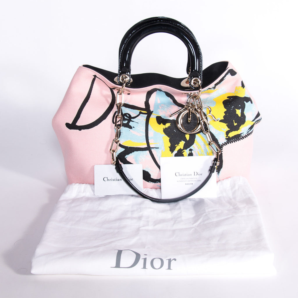 Christian Dior D-Light Canvas Bag Bags Dior - Shop authentic new pre-owned designer brands online at Re-Vogue