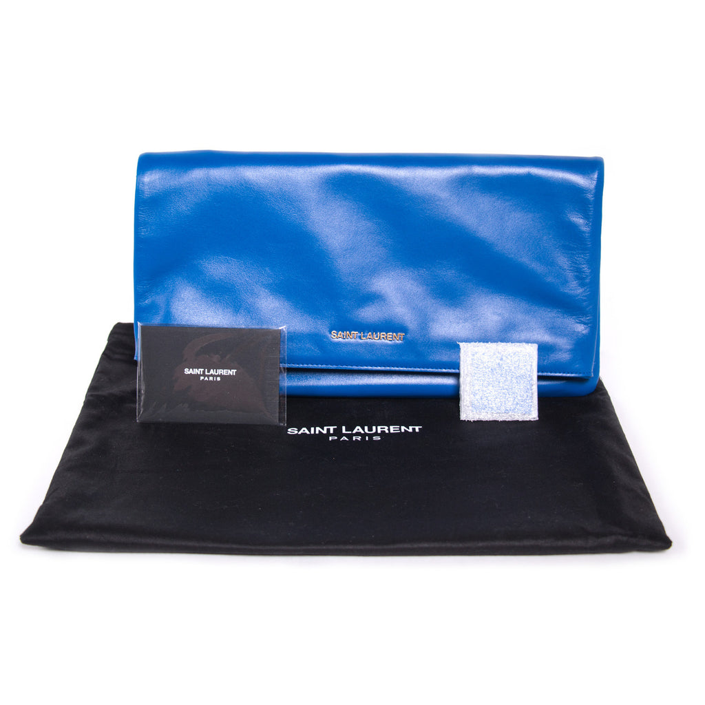 Saint Laurent Letters Fold-Over Clutch Bags Yves Saint Laurent - Shop authentic new pre-owned designer brands online at Re-Vogue