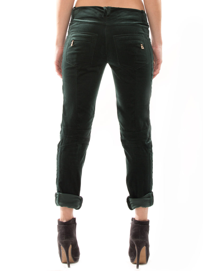 Balmain Green Velvet Pants Pants Balmain - Shop authentic new pre-owned designer brands online at Re-Vogue