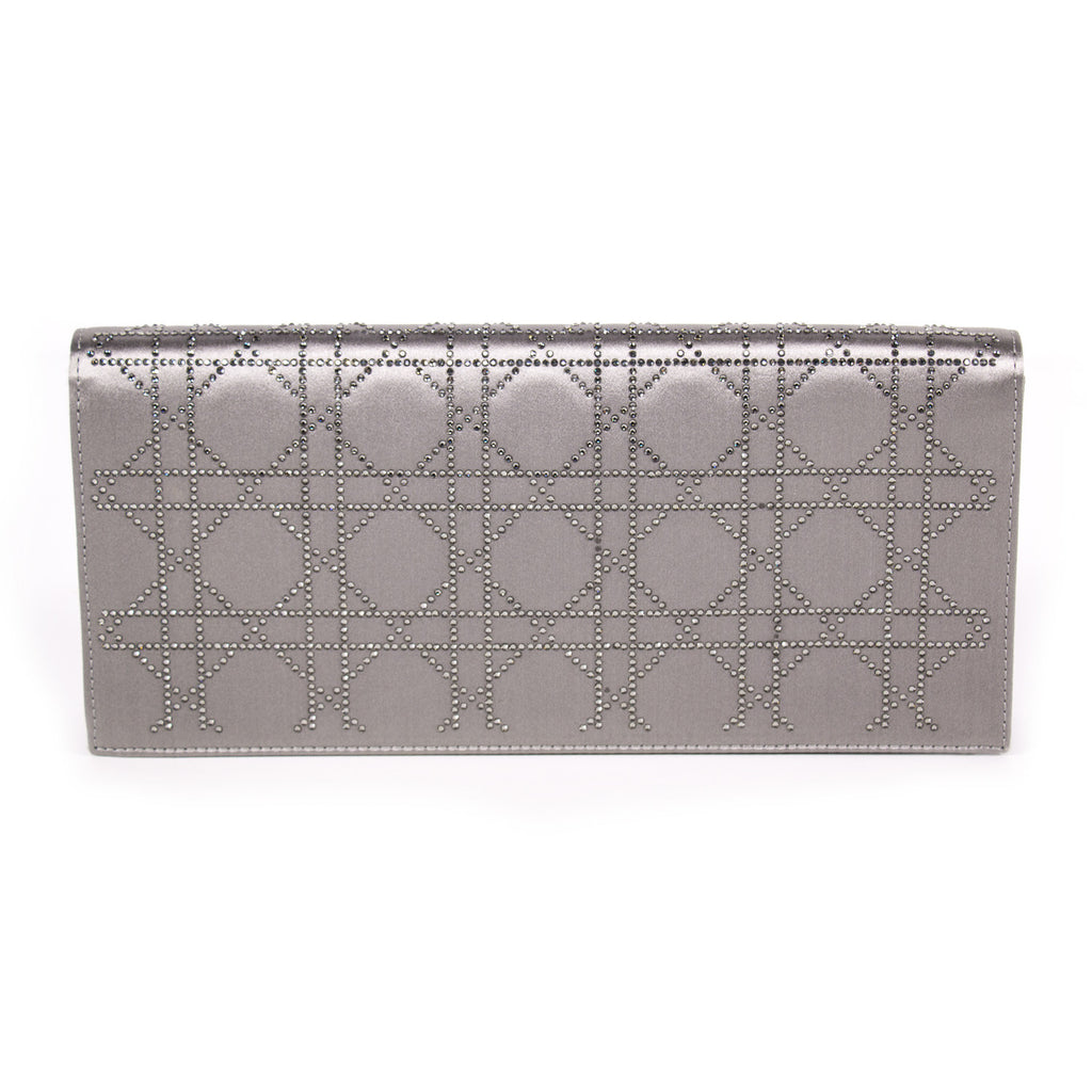 Christian Dior Cannage Satin Clutch Bags Dior - Shop authentic new pre-owned designer brands online at Re-Vogue