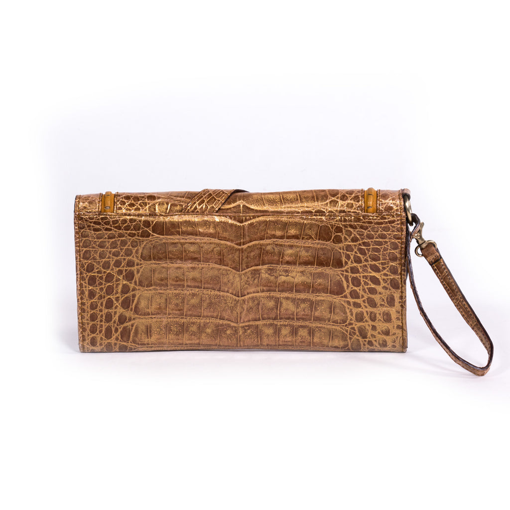 Dior Clutch Gaucho Crocodile - revogue