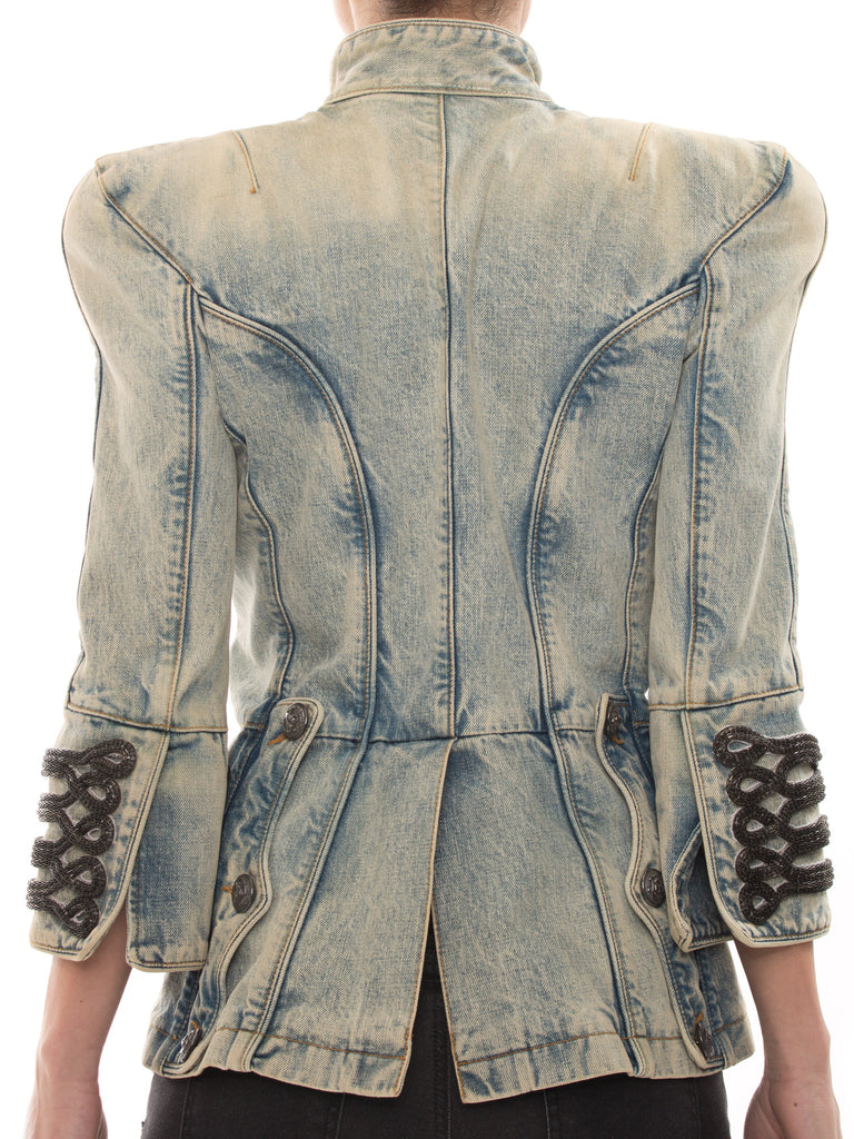 Balmain Military Denim Jacket Jacket Balmain - Shop authentic new pre-owned designer brands online at Re-Vogue