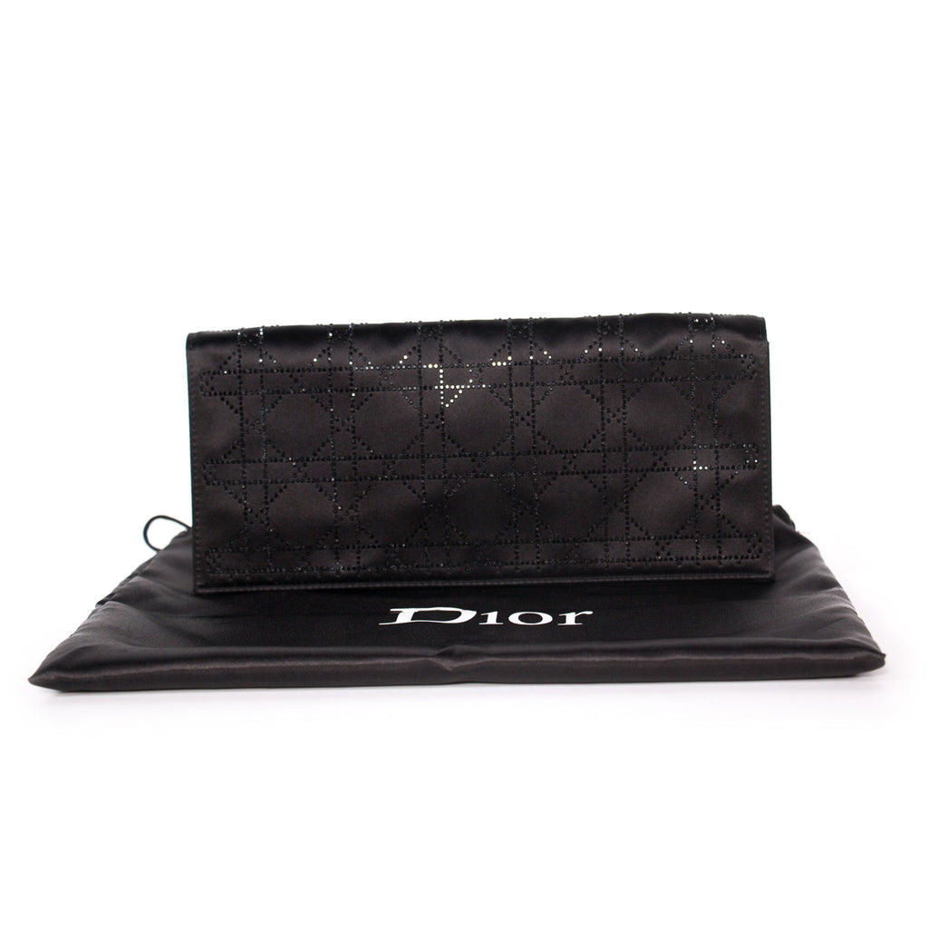 Christian Dior Lady Dior Satin Clutch Bags Dior - Shop authentic new pre-owned designer brands online at Re-Vogue
