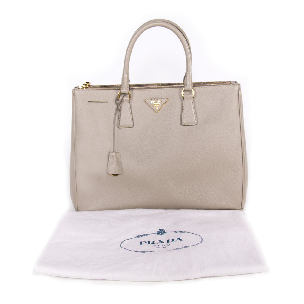 Prada Saffiano Double Zip Tote Bags Prada - Shop authentic new pre-owned designer brands online at Re-Vogue