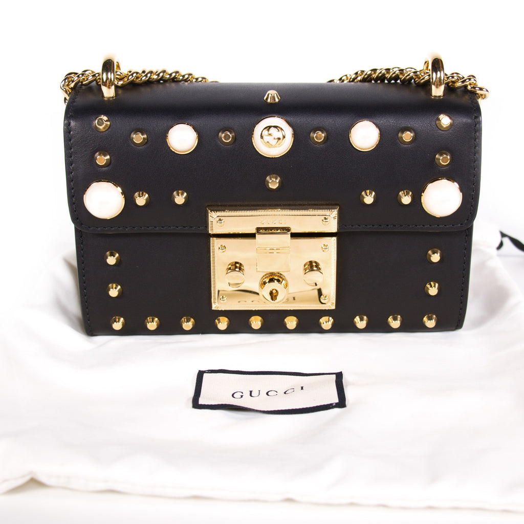 Gucci Padlock Studded Leather Shoulder Bag Bags Gucci - Shop authentic new pre-owned designer brands online at Re-Vogue