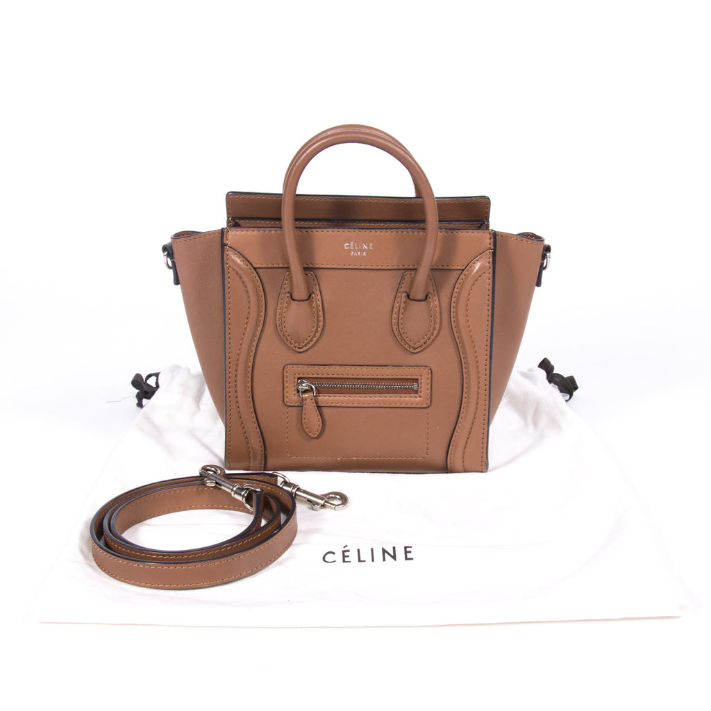 Celine Nano Luggage Tote Bag Bags Celine - Shop authentic pre-owned designer brands online at Re-Vogue