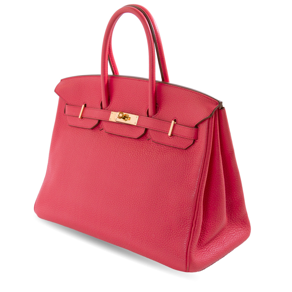 Hermès Birkin 35 Bougainvillier Clemence Leather Bags Hermès - Shop authentic new pre-owned designer brands online at Re-Vogue