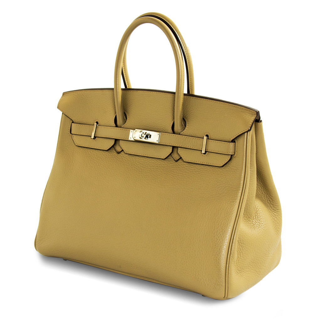 Hermès Birkin 35 Tabac Clemence Leather Bags Hermès - Shop authentic new pre-owned designer brands online at Re-Vogue