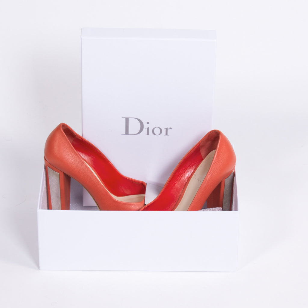 Dior Leather Metal Platform Shoes Dior - Shop authentic new pre-owned designer brands online at Re-Vogue