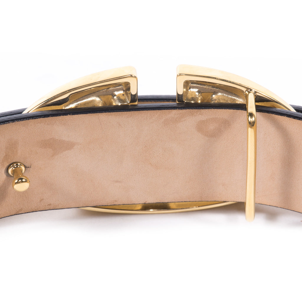 Valentino Leather Logo Belt - revogue