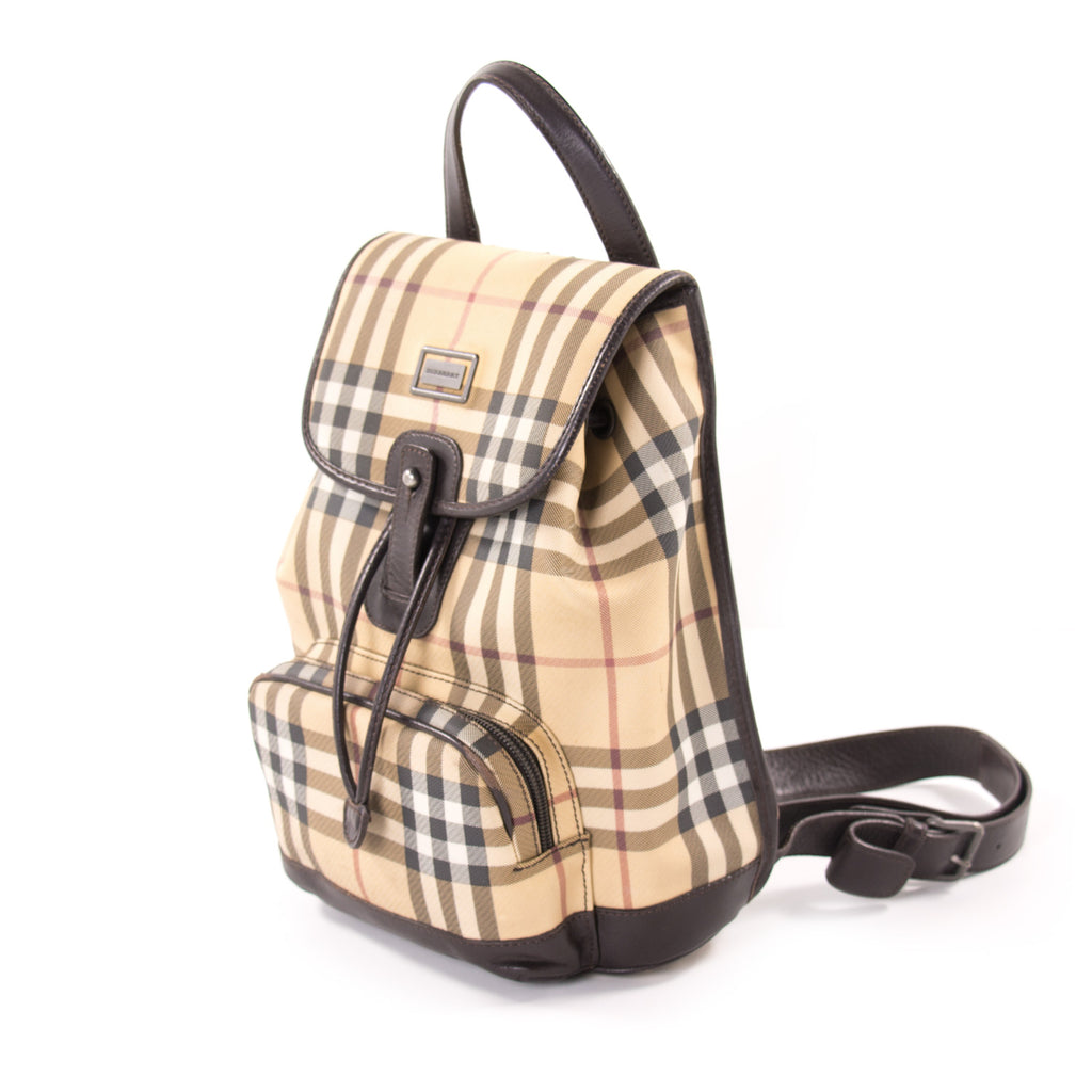 Shop authentic Burberry Small Nova Check Backpack at Re ...