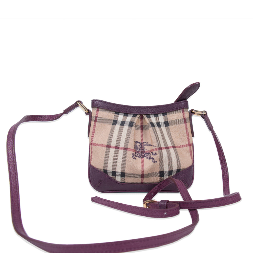 Burberry Haymarket Check Mini Bag Bags Burberry - Shop authentic new pre-owned designer brands online at Re-Vogue