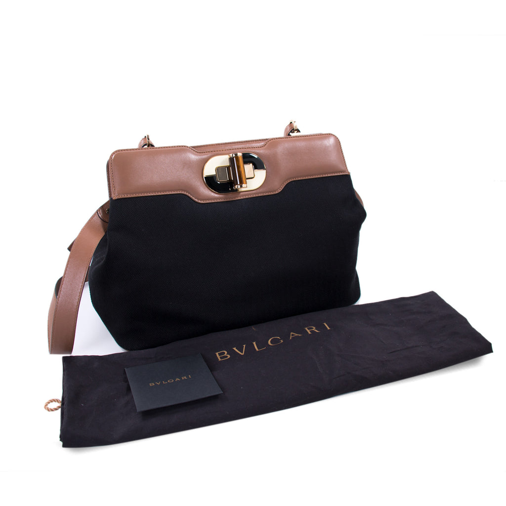 Bvlgari Isabella Rossellini Canvas Satchel Bags Bvlgari - Shop authentic new pre-owned designer brands online at Re-Vogue