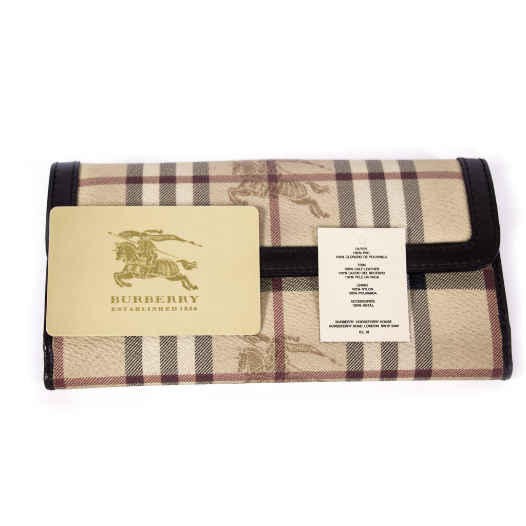 Burberry Haymarket Continental Wallet Accessories Burberry - Shop authentic new pre-owned designer brands online at Re-Vogue