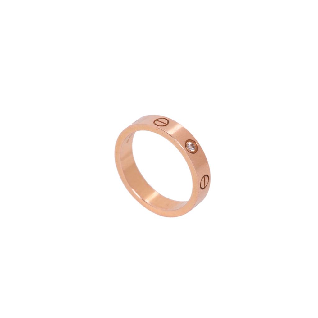 Cartier Rose Gold Diamond Love Wedding Band Accessories Cartier - Shop authentic new pre-owned designer brands online at Re-Vogue