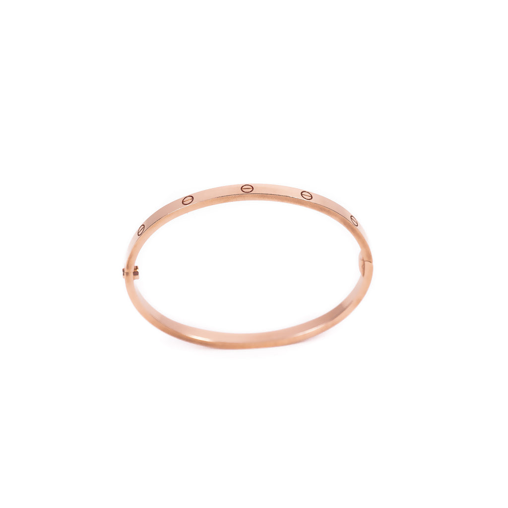 Cartier Rose Gold Love Bracelet SM Accessories Cartier - Shop authentic new pre-owned designer brands online at Re-Vogue
